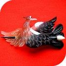 QueCraft PHOENIX Hair Pin / Barrette HORN - Hand Carved
