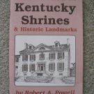 Kentucky Shrines & Historic Landmarks History 1792-1992