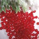 3mm Round Czech Glass Ruby Red 200 pack