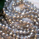 SILVER MATTE Czech Fire Polished Crystal 4mm Beads q.50