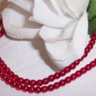RED 4mm Round Czech Glass Druk Beads 100