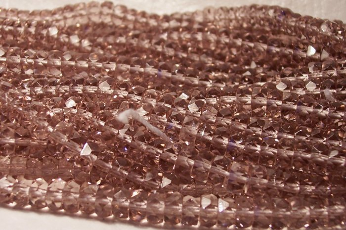 Lt. AMETHYST Czech Fire Polish Faceted Rondells 6/3mm q.25