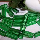 ATLAS 5-sided glass bead 15/6 MED. GREEN q/27