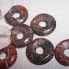 LEOPARDSKIN JASPER 15mm Donut Bead 6 pack