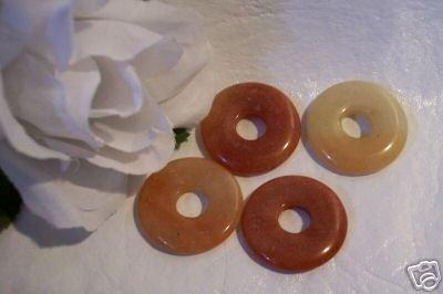 Red Aventurine Donut Bead 25mm