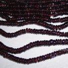 Pyrope Garnet Rondelle Heishi Beads GORGEOUS!!