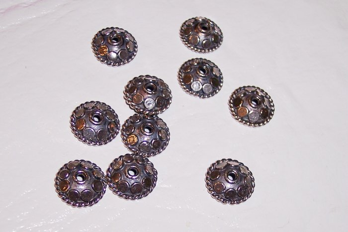 Sterling Silver Bali Bead Cap for 8-10mm Beads #65