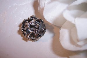 Sterling Silver GENUINE BALI Large Filigree Bead #1