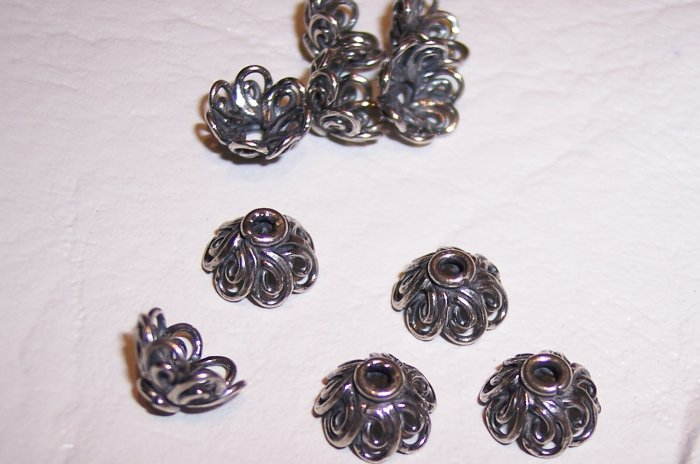 Sterling Silver GENUINE BALI Bead Cap Filigree #85
