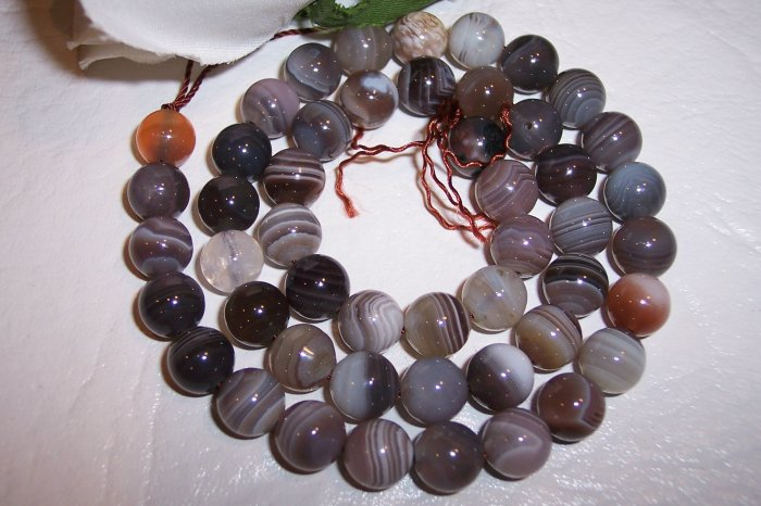 BOTSWANA AGATE 8 mm Round Beads