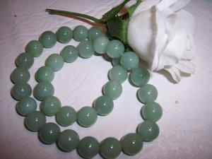 AVENTURINE (green) 11-12mm round beads