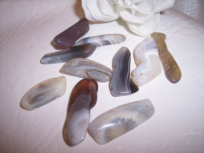BOTSWANA AGATE  Freeform Pendants 10 pack
