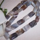 "BOTSWANA AGATE 14x10 Rectangle beads16"" strand"