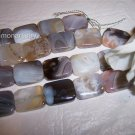 BOTSWANA AGATE Rectangle Beads 18x14