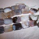 BOTSWANA AGATE Rectangle Beads 18x14