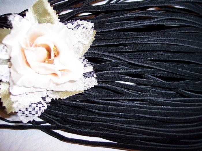 Faux Suede Cord 1mm BLACK 5 Meters