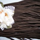 Faux Suede Cord 1mm DARK BROWN 5 Meters