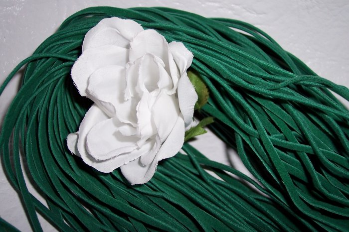 Faux Suede Cord 1mm GREEN 5 Meters