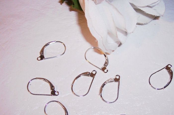 LEVER BACK Earring Wires STERLING SILVER 10 pcs.