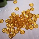 TOPAZ Czech 4mm Rondell Beads  100pcs
