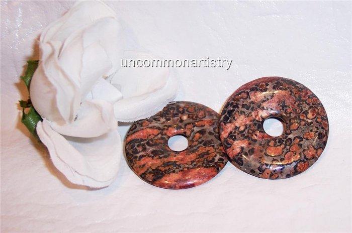 LEOPARDSKIN JASPER 40mm Donut Bead