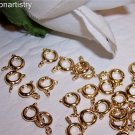 SPRING RING Clasps Gold Plated 6mm q.25