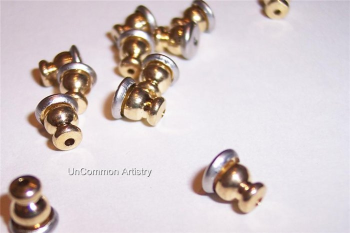 BULLET CLUTCHES Gold Plated  for Post Earrings q.25
