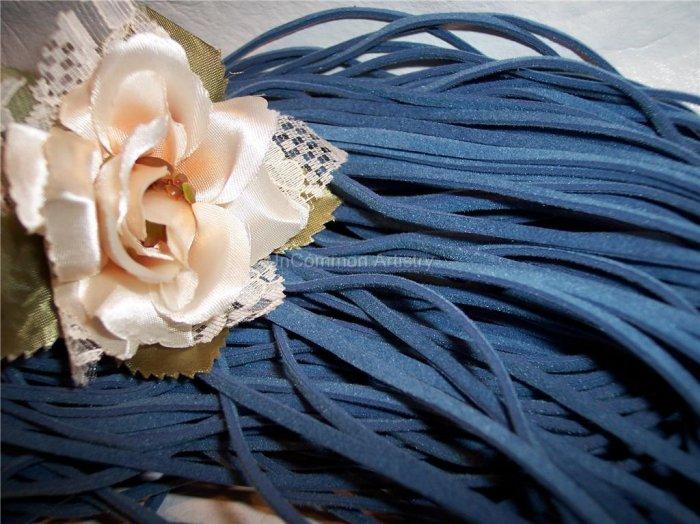 FAUX SUEDE Cord 1mm DARK BLUE 5 Meters