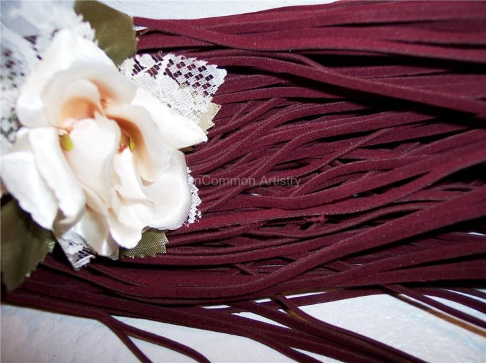 FAUX SUEDE Cord 1mm BURGUNDY 5 Meters