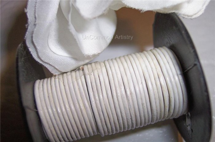 LEATHER CORD 1mm WHITE 5 yards