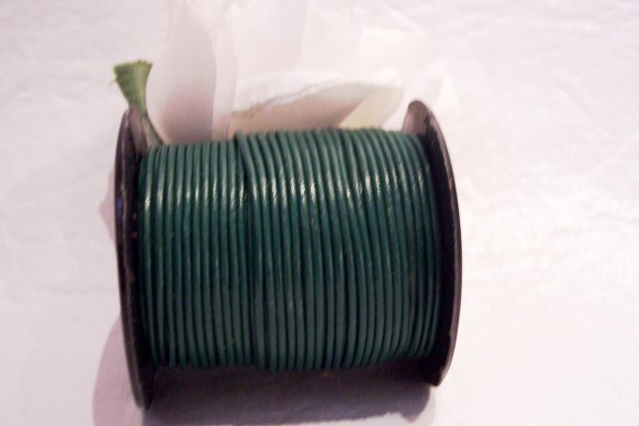 LEATHER CORD 1mm DARK GREEN 5 yards
