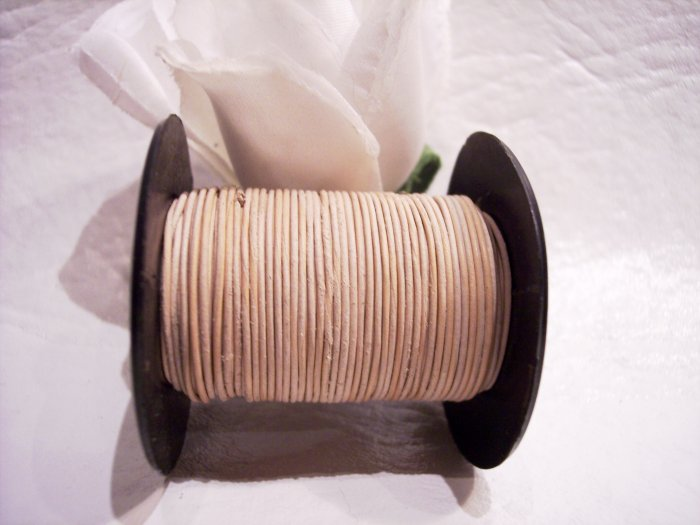 LEATHER CORD .5mm TAN 5 yards