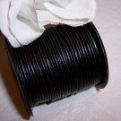 LEATHER CORD .5mm BLACK 5 yards