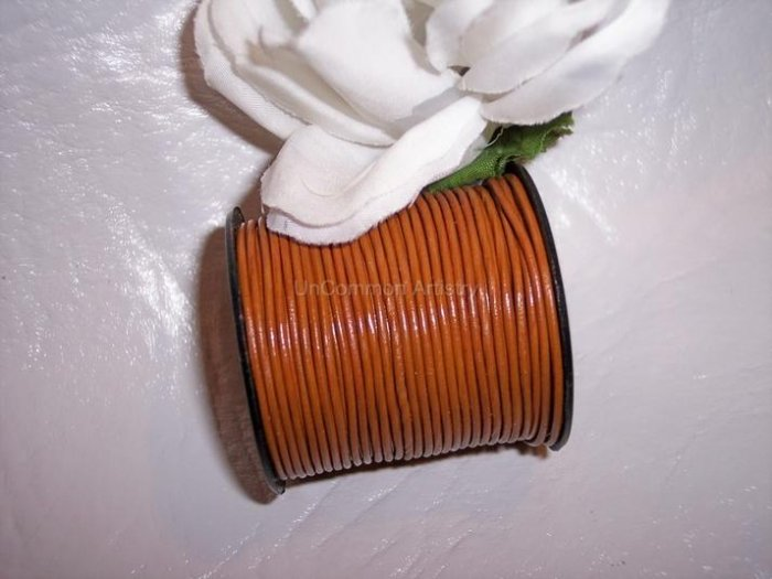 LEATHER CORD 1mm SIENNA BROWN 5 yards