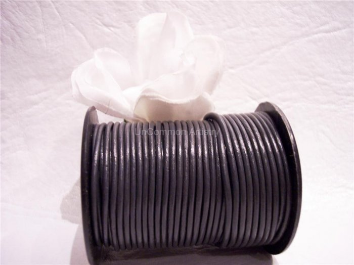 LEATHER CORD 2mm GREY 5 yards