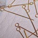 "1"" EYE PINS 24 Gauge GOLD PLATED q.100"