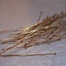 """1 1/2"""" HEAD PINS 24 Gauge GOLD FILLED q.10"""