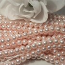 GLASS PEARLS Czech 6mm Round BABY PINK q.100