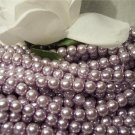 GLASS PEARLS Czech 6mm Round LILAC q.100
