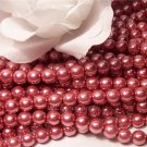GLASS PEARLS Czech 6mm Round MAUVE q.100