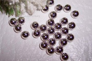 6mm Round Beads STERLING SILVER q.10