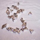 TRIANGLE Beads STERLING SILVER q.10