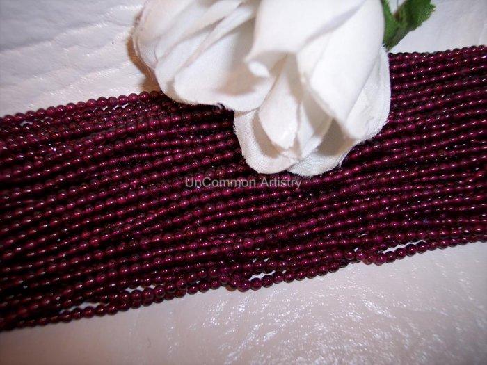 GARNET Beads 2-3mm ROUNDS