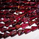 "GARNET TRIANGLE BEADS 6x6mm 15"" Strand"