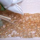 "CITRINE Rectangle Beads 4x8mm 15"" Strand"