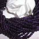 "AMETHYST 4 mm ROUND Beads 16"" Strand"