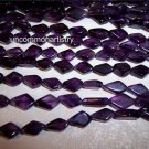 AMETHYST Diamond Shaped Beads 6x10mm