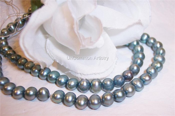 "Fresh Water Potato PEARLS 4-5mm SLATE 16"" strand"
