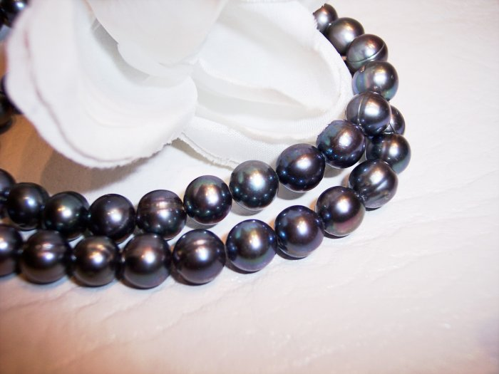 "Fresh Water Potato PEARLS 7-9mm PEACOCK 16"" strand"
