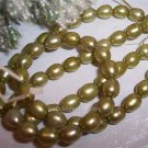 "Fresh Water RICE PEARLS 5mm OLIVE 16"" Strand"